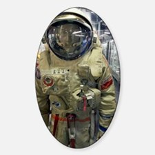 Orlan spacesuit display Sticker (Oval)