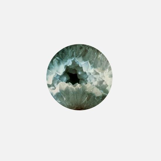 Slice of agate, a form of quartz Mini Button