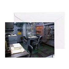 Operations room on USS Intrepid Greeting Card