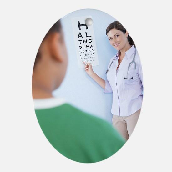 Eye examination Oval Ornament