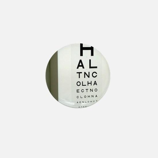 Eye chart Mini Button