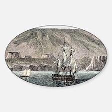 Old Sail ships Galapagos Island Isa Decal