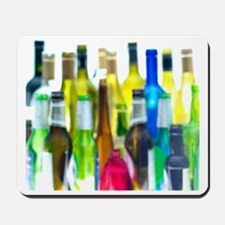 Empty wine and beer bottles Mousepad