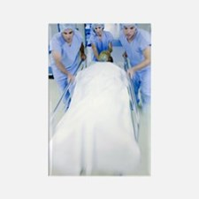 Emergency hospital treatment Rectangle Magnet