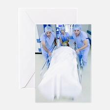 Emergency hospital treatment Greeting Card