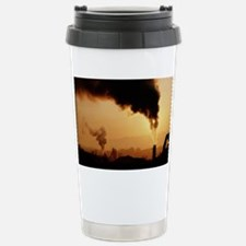 Smoke plume from asphalt plant Travel Mug