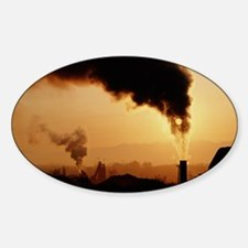 Smoke plume from asphalt plant Decal