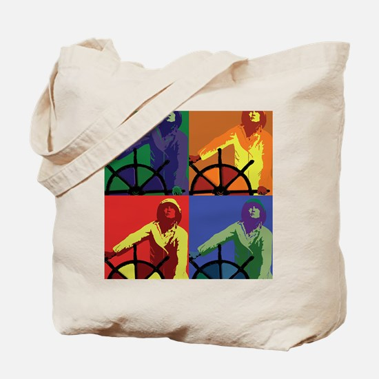 Pop Art Man at the Wheel Tote Bag