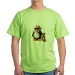 Cowboy Penguin Green T-Shirt
