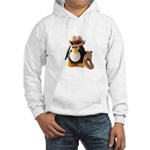 Cowboy Penguin Hooded Sweatshirt