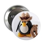 Cowboy Penguin Button
