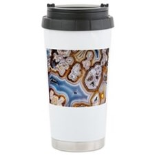 Slice of honeycomb agate Travel Mug