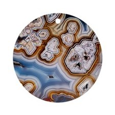 Slice of honeycomb agate Round Ornament