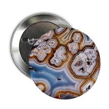 """Slice of honeycomb agate 2.25"""" Button"""