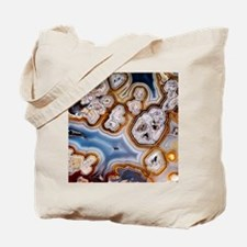 Slice of honeycomb agate Tote Bag