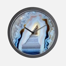 Slice of agate Wall Clock