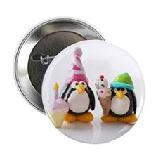Birthday Party Penguins Button
