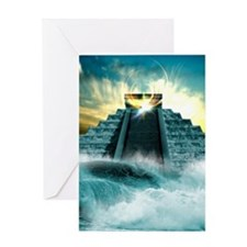 End of the World in 2012 conceptual  Greeting Card