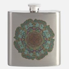 Tree of life coaster/tile Flask