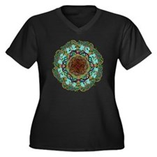 Tree of life Women's Plus Size Dark V-Neck T-Shirt