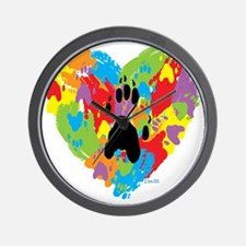 Painted by Ferrets Wall Clock