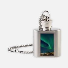 Northern lights over Murmansk Flask Necklace
