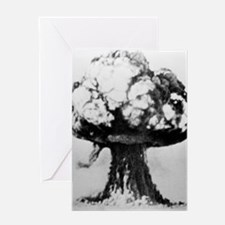 Nuclear explosion Greeting Card