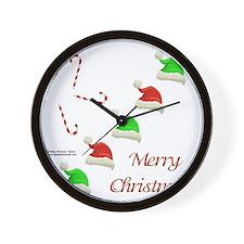SantaHatsShirt Wall Clock