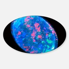 Single piece of blue opal Decal