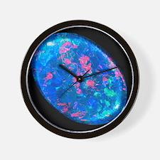 Single piece of blue opal Wall Clock