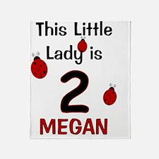 MEGAN This Little Lady is 2 (Ladybug Throw Blanket