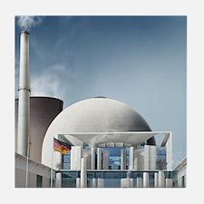 Nuclear power station, artwork Tile Coaster