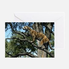 Simocyon in a tree, artwork Greeting Card
