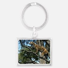 Simocyon in a tree, artwork Landscape Keychain