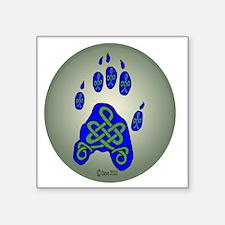 "Celtic Paw Print Square Sticker 3"" x 3"""