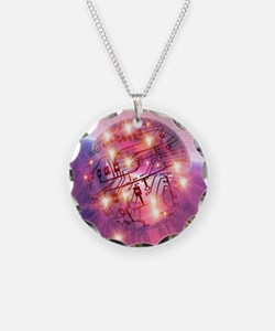 Electronic world, artwork Necklace
