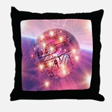 Electronic world, artwork Throw Pillow