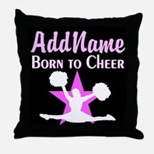 CHEERING CHAMP Throw Pillow