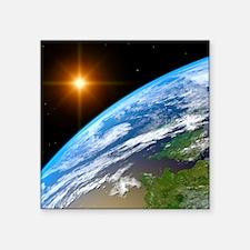 """Earth, artwork Square Sticker 3"""" x 3"""""""