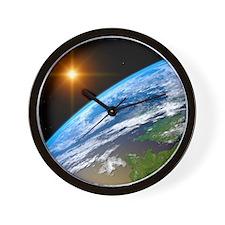 Earth, artwork Wall Clock