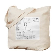 Newton's telescope, historical artwork Tote Bag