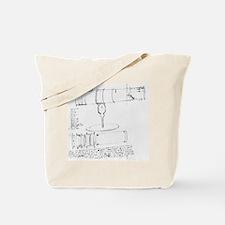 Newton's telescope, historical artwork Tote Bag