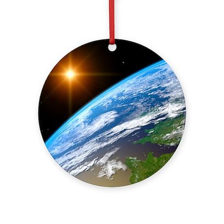 Earth, artwork Round Ornament