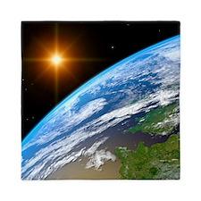 Earth, artwork Queen Duvet