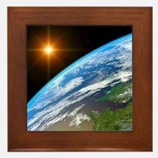 Earth, artwork Framed Tile