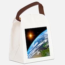 Earth, artwork Canvas Lunch Bag
