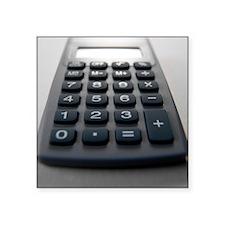 "Electronic calculator Square Sticker 3"" x 3"""