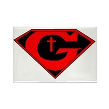 GOD POWERED SHEILD R/B/W Rectangle Magnet