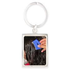 Nit comb Portrait Keychain
