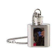 Nit comb Flask Necklace